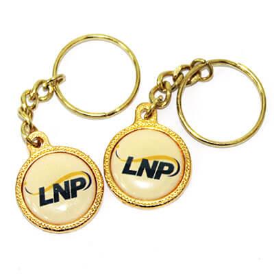 LNP Gold Keyring